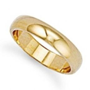 4mm thick 9ct Gold Ultra Lightweight D shape profile Wedding Ring 1.9g Sizes I-Z